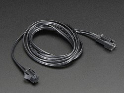 In-line power cable 1 meter long extension cord (for EL wire) - AF616 - Thumbnail
