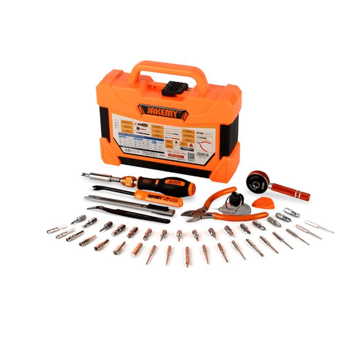 Jakemy Tool Case (Screwdriver, Side Chisel, Tweezer, Utility Knife, Ratchet Sleeve, Suction Cup) JM-8146