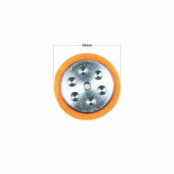 JS5230 Silikon Tekerlek (51x30 mm) - 2 Adet - Thumbnail