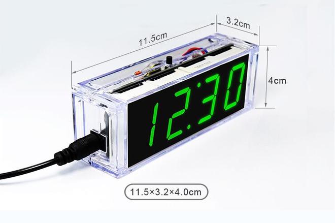 Kendin Yap - Masa Saati, Sıcaklık Sensörlü - Beyaz