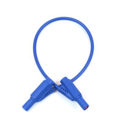 Korumalı Born Kablo - Mavi, 50 cm, 4 mm