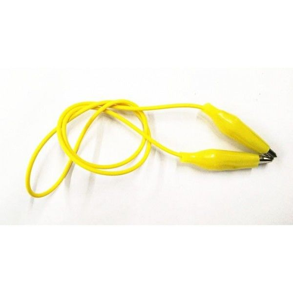 China - Küçük Krokodil Kablo 20 cm - Sarı