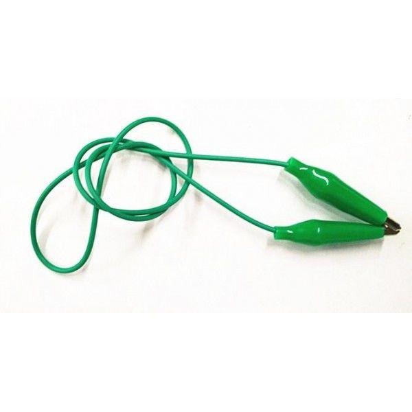 Küçük Krokodil Kablo 20 cm - Yeşil