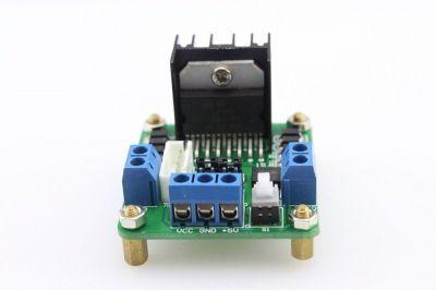 L298 Çift Motor Sürücü Kartı - Dual Motor Driver (Yeşil PCB)