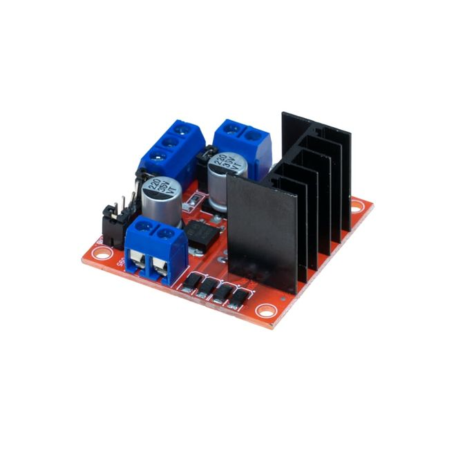 L298N Pair Motor Driver Board with Voltage Regulator(Red PCB)