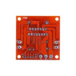 L298N Voltaj Regulatörlü Çift Motor Sürücü Kartı(Kırmızı PCB) - Thumbnail