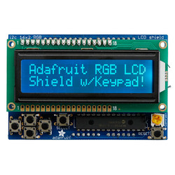 Adafruit - LCD Shield Kit w/ 16x2 Character Display (Blue - White)