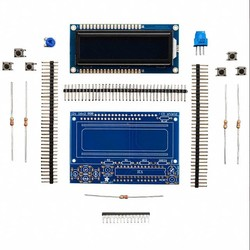LCD Shield Kit w/ 16x2 Character Display (Blue - White) - Thumbnail