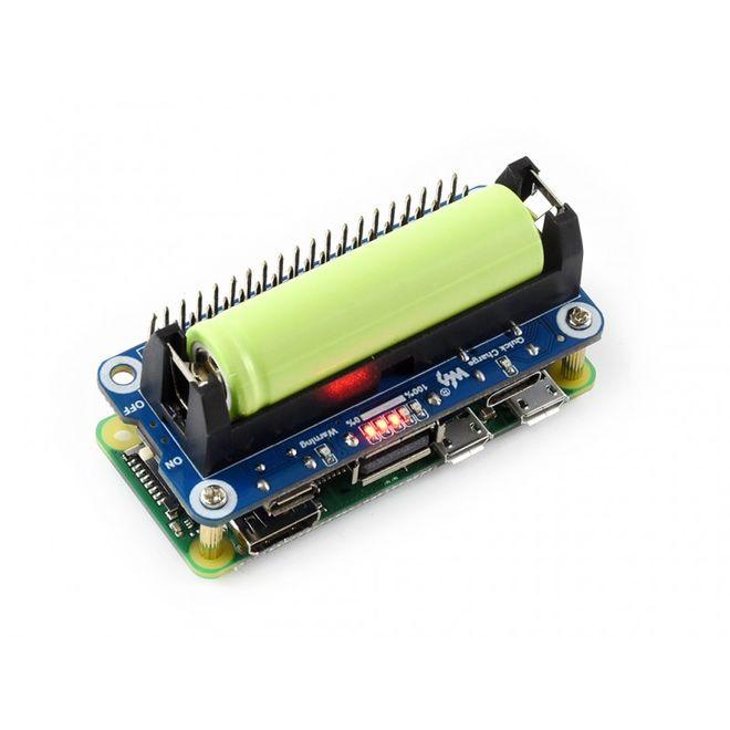 Li-ion Batarya HAT Raspberry Pi Uyumlu