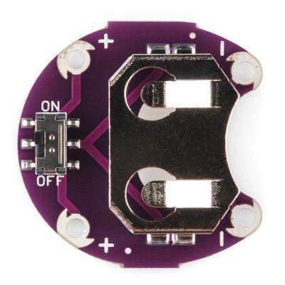 LilyPad Coin PCB - LilyPad CR2032 Battery Slot
