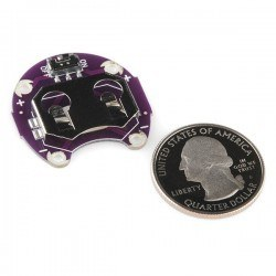 LilyPad Coin PCB - LilyPad CR2032 Battery Slot - Thumbnail