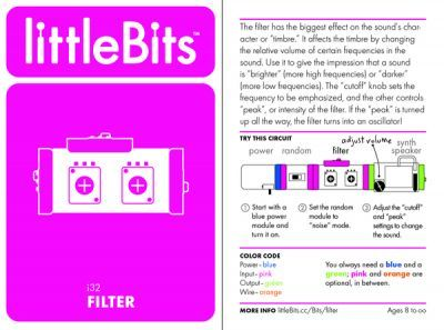 LittleBits Filtre