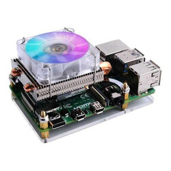 ODSEVEN - Low-Profile CPU Cooler with RGB Cooling Fan for Raspberry Pi 4