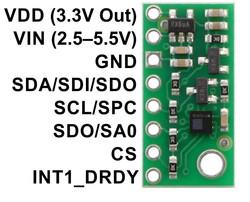 LPS25HB Basınç/İrtifa Sensörü - PL-2867 - Thumbnail