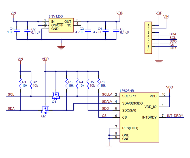 LPS25HB Pressure/Altitude Sensor