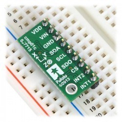 LSM303D 3D Compass and Acceleration Measurer Sensor With Voltage Regulator - LSM303D - Thumbnail
