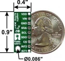 LSM303D 3D Voltaj Regülatörlü Pusula ve İvme Ölçer Sensör - LSM303D - PL-2127 - Thumbnail