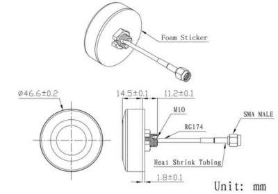 LTE-A-003 - Aktif Harici GPS Anten