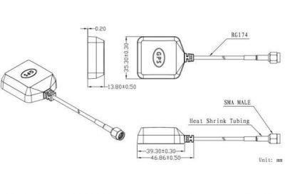 LTE-A-004 - Aktif Harici GPS Anten