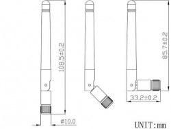 LTE-D-402 433 MHz - RF Anten - Thumbnail