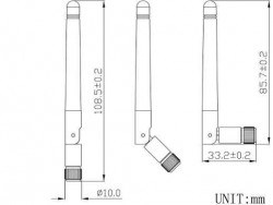 LTE-D-402 433MHz - RF Antenna - Thumbnail
