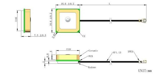 LTE-N-048 - Active Internal GPS Antenna