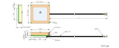 LTE-N-054 - Active Internal GPS Antenna
