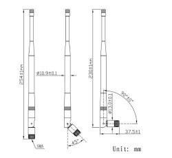 LTE-V-720 169MHz - RF Antenna - Thumbnail