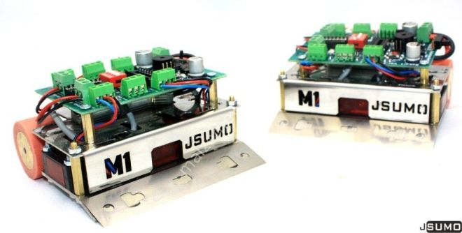 M1 Mini Sumo Robot Gövdesi + Katana Mini Sumo Bıçağı
