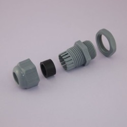 Proje Kutusu - M20x1,5 Multihole Cable Gland - Light Gray - Cable Diameter 2x7mm - 33x10x27mm