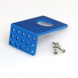Makeblock 42BYG Stepper Motor Bracket B - Blue - Thumbnail