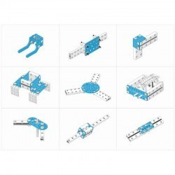 Makeblock Bağlantı Parçaları Paketi - Bracket Robot Pack - Blue - 95045 - Thumbnail