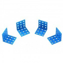 Makeblock - Makeblock Bracket 3x3 - Blue (4 Pack)