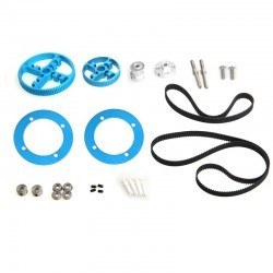 Makeblock - Makeblock Triger Kayışı ve Kasnak Seti - Timing Belt Motion Pack - Blue - 95040