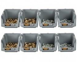 Mano Grey Storage Bins - G-10-Set - Thumbnail