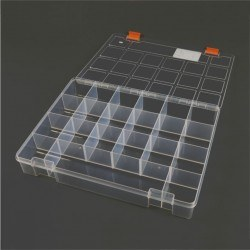 Mano Transparent Storage Box 13'' Classic Organizer - Thumbnail
