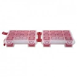 Mano Twin Organizer Kırmızı 7 Inch Malzeme Çantası - T-ORG-7 - Thumbnail