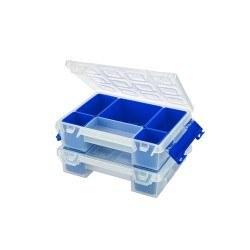 Mano - Mano Twin Organizer Mavi 7 Inch Malzeme Çantası - T-ORG-7