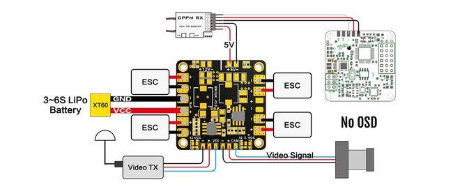 Matek Mini Güç Dağıtım Kartı - 5V/12V BEC