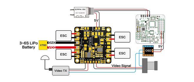 Matek Mini Power Distribution Board - 5/12 V BEC