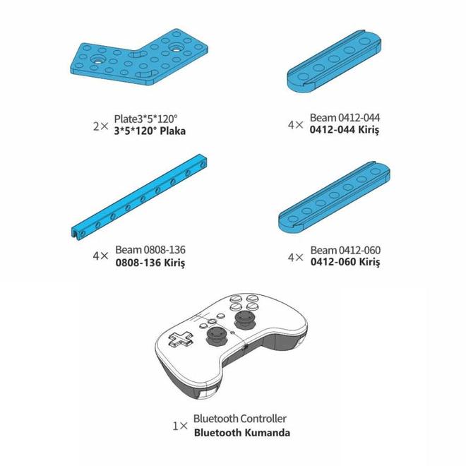 mBot Geliştirme Kiti (Bluetooth Kumanda Dahil)