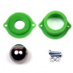 Robotistan - Metal Bilyeli Sarhoş Teker - Yeşil