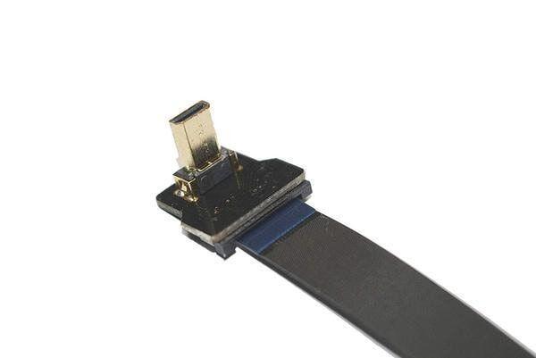 Micro HDMI Plug - Dik - Sağ (L tipi - DIY HDMI Kablo ile Birlikte Kullanılabilir)