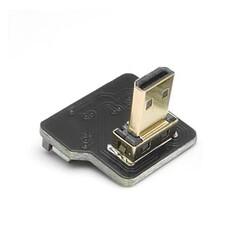 ODSEVEN - Micro HDMI Plug - Dik - Sağ (L tipi - DIY HDMI Kablo ile Birlikte Kullanılabilir)