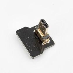 Micro HDMI Plug - Dik - Sol (L tipi - DIY HDMI Kablo ile Birlikte Kullanılabilir) - Thumbnail
