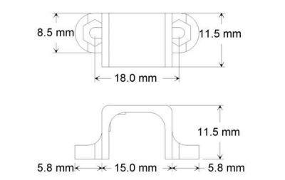 Plastik Mikro Metal Motor Tutucu - Siyah - PL-989