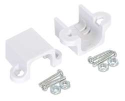 Plastik Mikro Metal Motor Tutucu - Uzun Beyaz - PL-1089 - Thumbnail