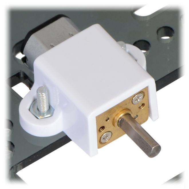 Plastik Mikro Metal Motor Tutucu - Uzun Beyaz - PL-1089