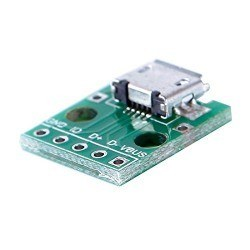 Micro USB Type-B (Female) to DIP Converter - Thumbnail