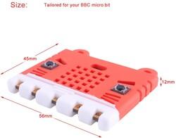 micro:bit Kırmızı Silikon Koruma Kılıfı - Thumbnail